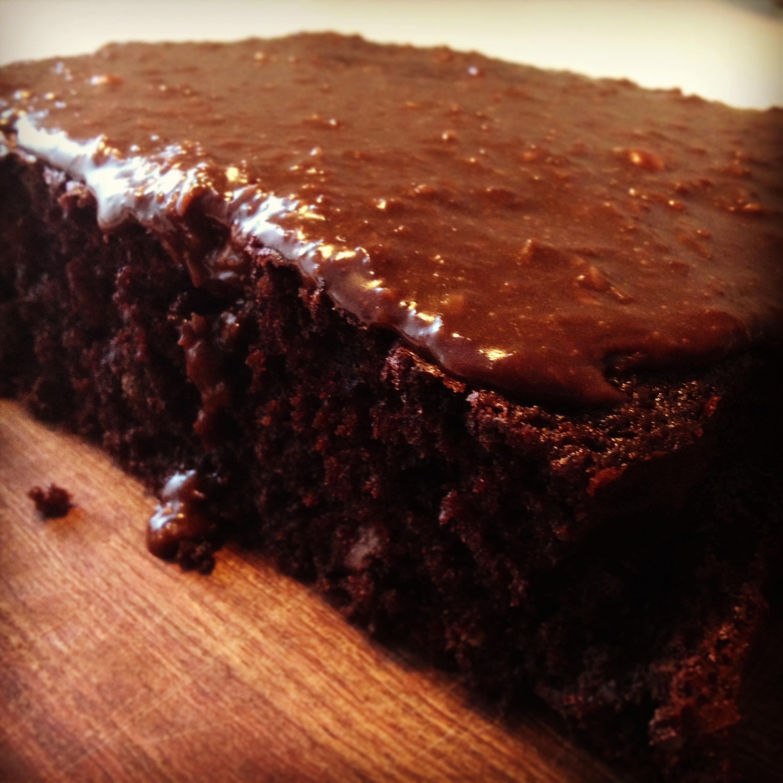 chokoladekage med chokolade
