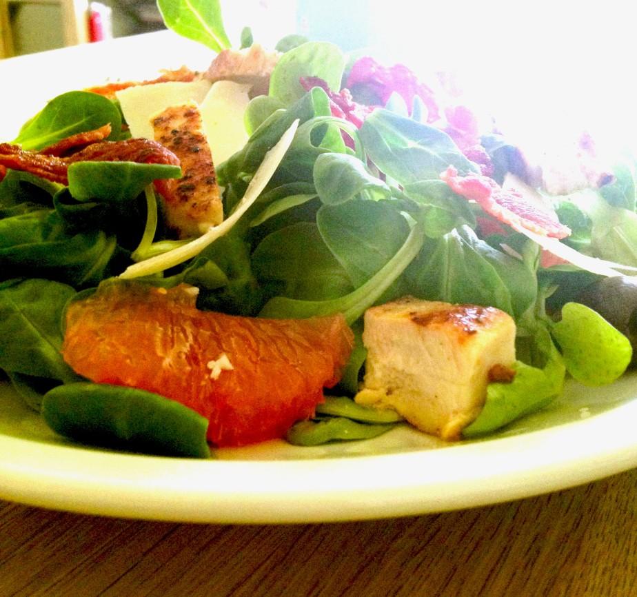 Salat med kylling og grape